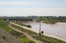 Gyrtoni's Dam's Completion at the River Peneus in S. Larissa